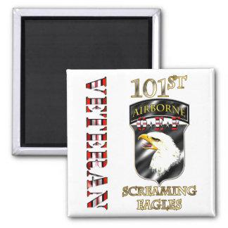 101st Airborne Division OEF Veteran 2 Inch Square Magnet