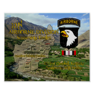 101st Airborne Division OEF Veteran  poster