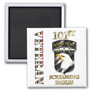 101st Airborne Division OIF Veteran 2 Inch Square Magnet