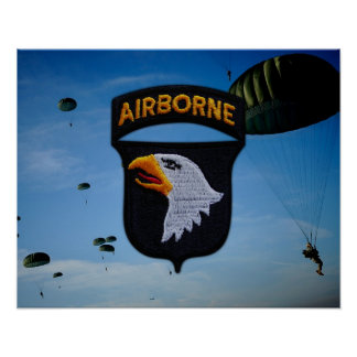 101st Airborne Division Patch Poster