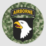 101st Airborne Division Round Stickers