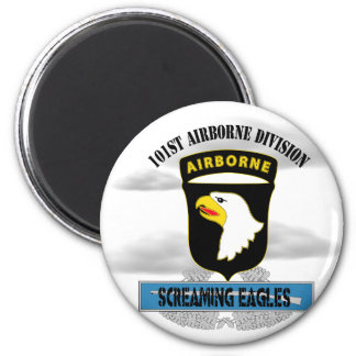 """101st Airborne Division """"Screaming Eagles"""" 2 Inch Round Magnet"""