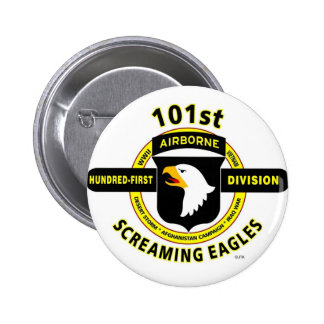 """101ST AIRBORNE DIVISION """"SCREAMING EAGLES"""" BUTTON"""