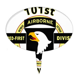 "101ST AIRBORNE DIVISION ""SCREAMING EAGLES"" CAKE TOPPER"