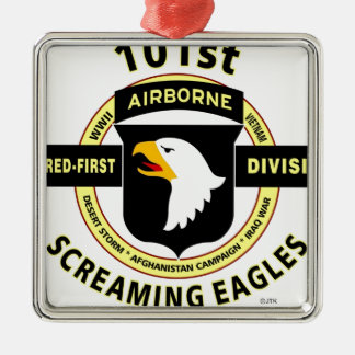 "101ST AIRBORNE DIVISION ""SCREAMING EAGLES"" METAL ORNAMENT"