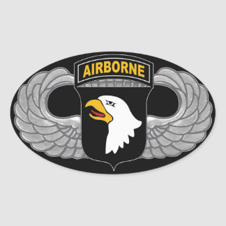 """101st Airborne Division """"Screaming Eagles"""" Oval Sticker"""