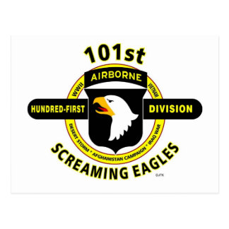 """101ST AIRBORNE DIVISION """"SCREAMING EAGLES"""" POSTCARD"""
