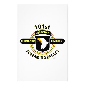 101ST AIRBORNE DIVISION SCREAMING EAGLES CUSTOM STATIONERY