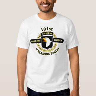 """101ST AIRBORNE DIVISION """"SCREAMING EAGLES"""" T SHIRT"""