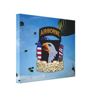 101st airborne division veterans vets gulf war canvas print
