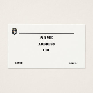 101st Airborne Division vets patch business Card