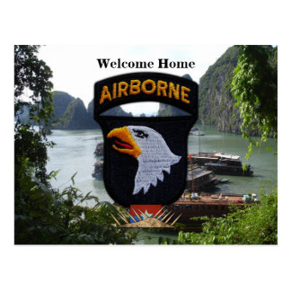 101st airborne division vietnam nam patch postcard