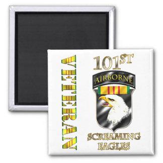 101st Airborne Division Vietnam Veteran 2 Inch Square Magnet