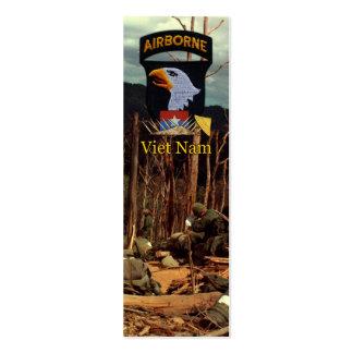 101st Airborne Division Vietnam War bookmarkers Business Card