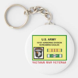 101ST AIRBORNE DIVISION VIETNAM WAR VET KEYCHAIN