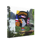 101st airborne division vietnam war veterans vets gallery wrapped canvas