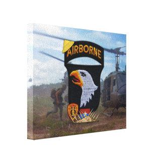 101st airborne division vietnam war veterans vets canvas print