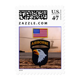 101st airborne fort campbell patch postage stamps