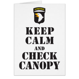 101ST AIRBORNE - KEEP CALM AND CHECK CANOPY CARD