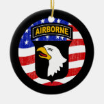 101st AIRBORNE Double-Sided Ceramic Round Christmas Ornament