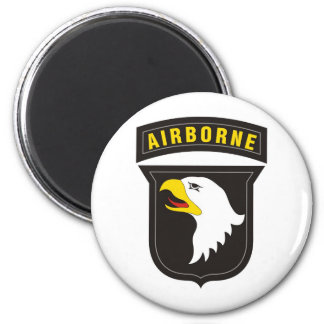 101st Airborne Screaming Eagle Emblem 2 Inch Round Magnet