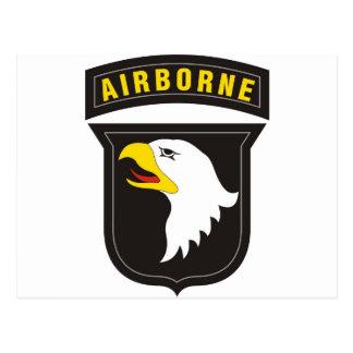 101st Airborne Screaming Eagle Emblem Postcard