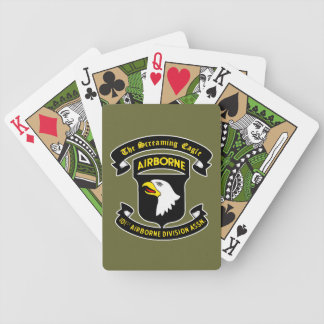 101st Airborne Screaming Eagle Patch Playing Cards