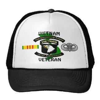 101st Airborne Screaming Eagle Vietnam Ball Caps