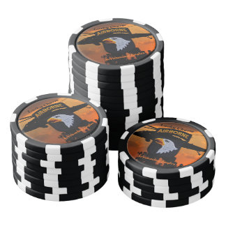 101st airborne screaming eagles fort campbell poker chip set