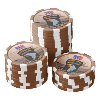 101st airborne screaming eagles fort campbell poker chips set
