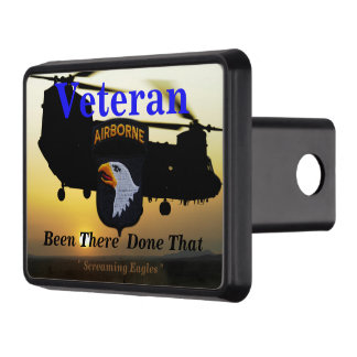 101st airborne screaming eagles fort campbell tow hitch cover