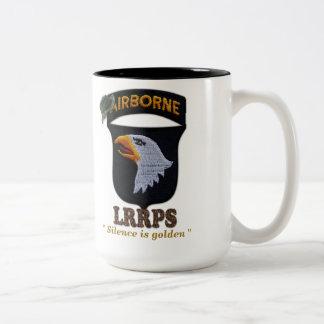 101st airborne screaming eagles LRRPS LRRP Two-Tone Coffee Mug
