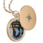 101st Airborne screaming eagles veterans patch Locket Necklace