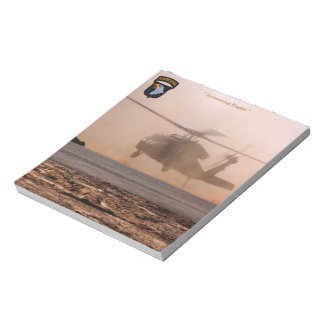 101st airborne screaming eagles veterans patch notepad