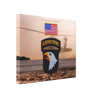 101st airborne screaming eagles veterans vets canvas print