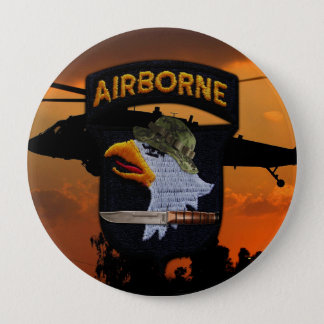 101st airborne screaming eagles veterans vets pinback button