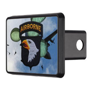 101st airborne screaming eagles veterans vets tow hitch cover