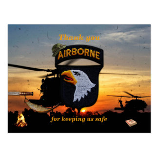 101st airborne screaming eagles vets patch post cards