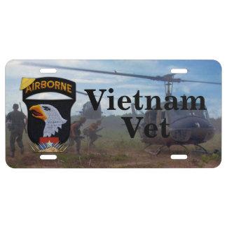 101st airborne screaming eagles vietnam nam vets license plate