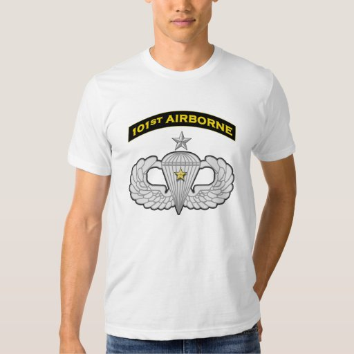 101st Airborne Senior Jump Wings w Star Tee