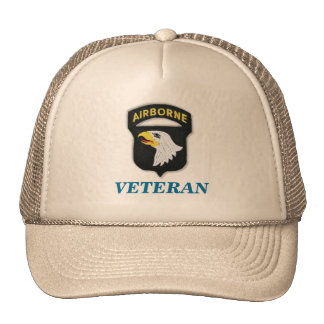 101st airborne veteran unit flash iraq patch vietn trucker hat