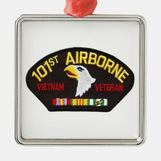 101st Airborne Vietnam Veteran Metal Ornament