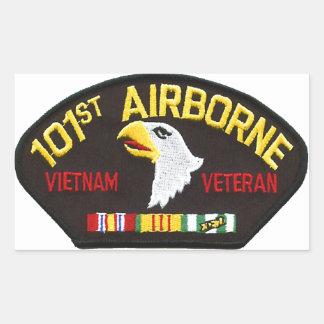 101st Airborne Vietnam Veteran Rectangular Sticker