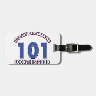 101st birthday designs luggage tag