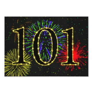 101st birthday party invitate card