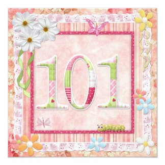 101st birthday party scrapbooking style card