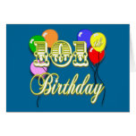 101st Birthday with Balloons Cards