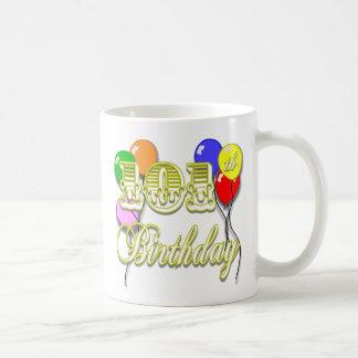 101st Birthday with Balloons Coffee Mug