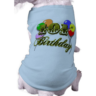 101st Birthday with Balloons Dog Clothes