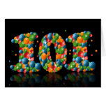 101st birthday with numbers formed from balls cards